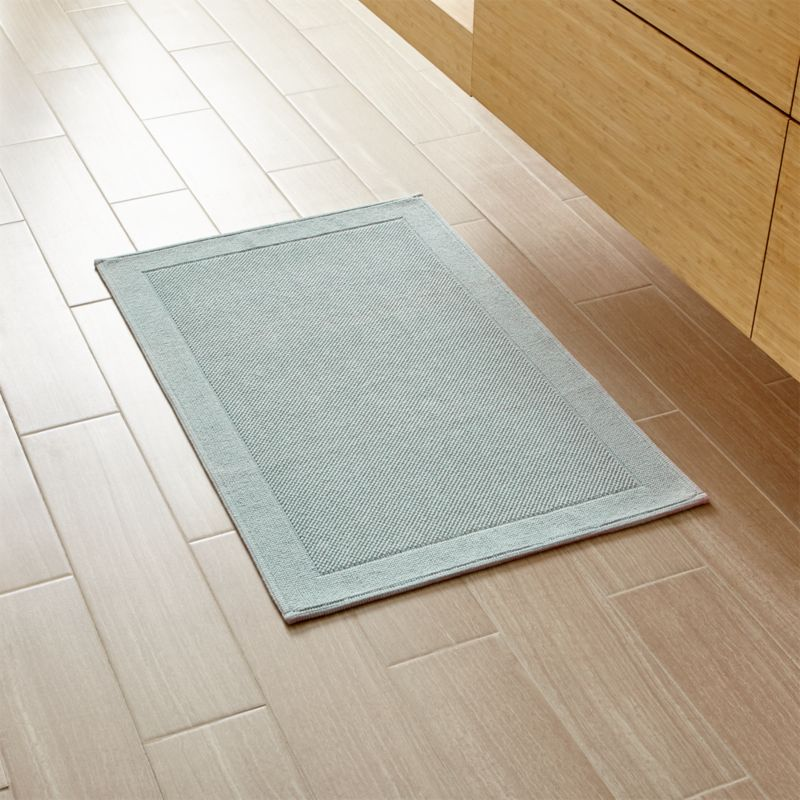 Luxury Reversible Mint Bath Rug In Bath Rugs  Crate And Barrel