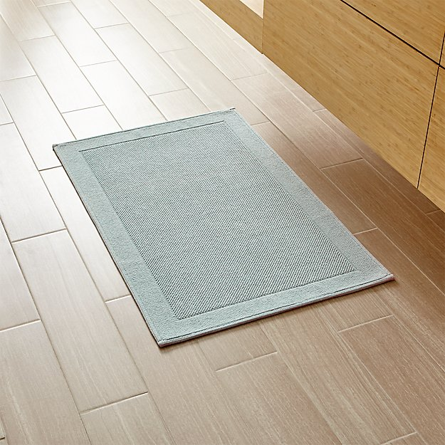 Crate And Barrel Bath Rugs: Westport Spa Blue Bath Rug