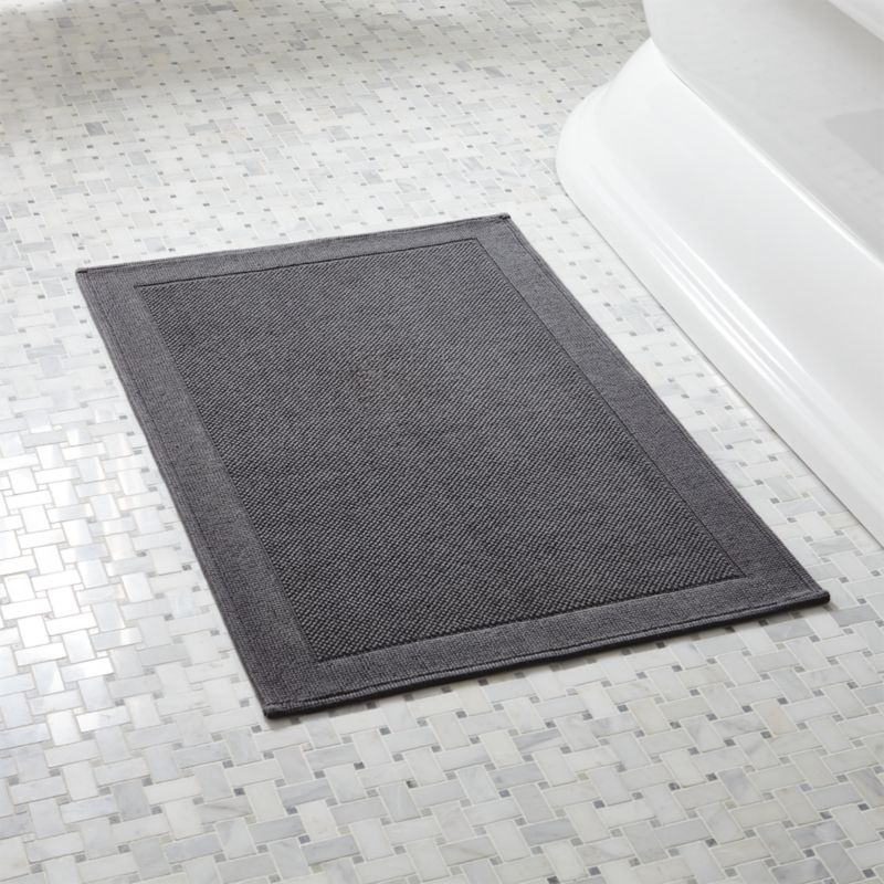 Westport Grey Bath Rug Reviews Crate And Barrel
