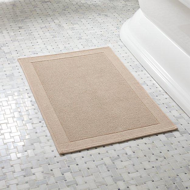 Westport beige bathroom rug crate and barrel for International decor bath rugs