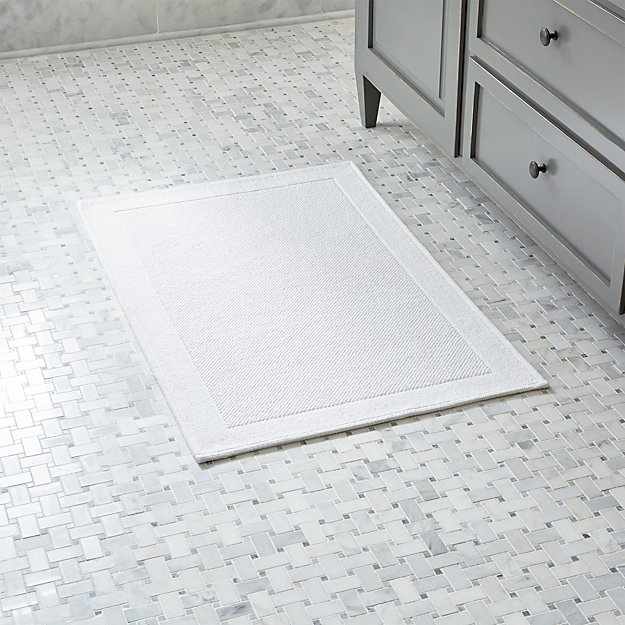 Westport White Bath Rug Crate And Barrel