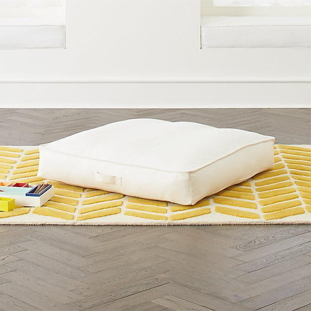 White Teepee Floor Cushion Crate And Barrel