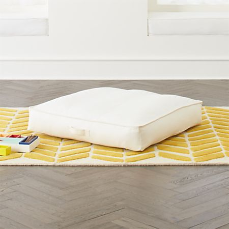 best loved 493f3 ca288 White Teepee Floor Cushion + Reviews | Crate and Barrel