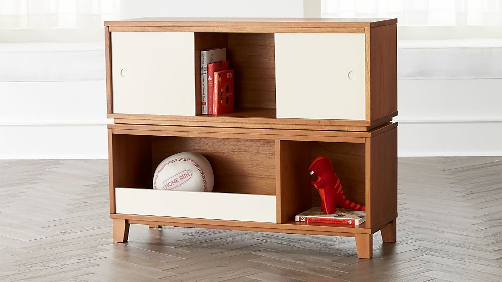 District Wood Stackable Bookcase | Crate and Barrel