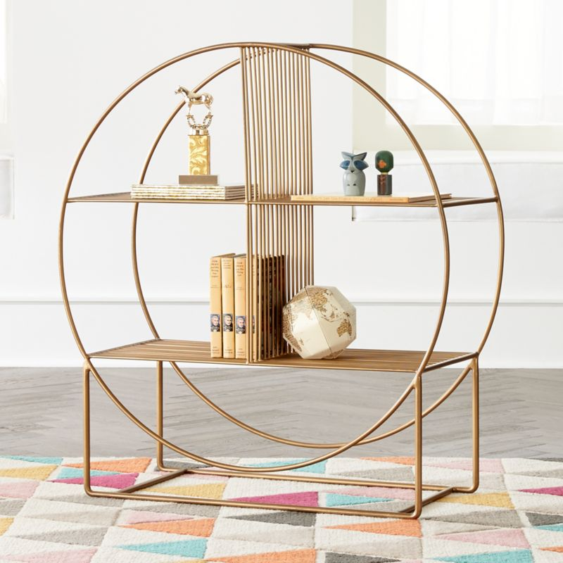 Wheelhouse Round Bookcase by Crate&Barrel