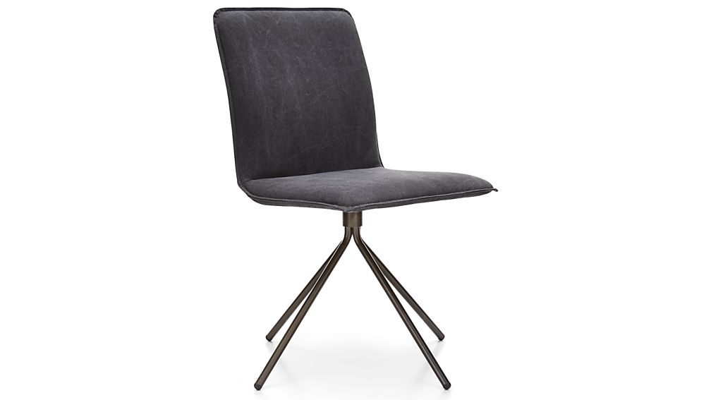 Whirl Swivel Grey Upholstered Dining Chair