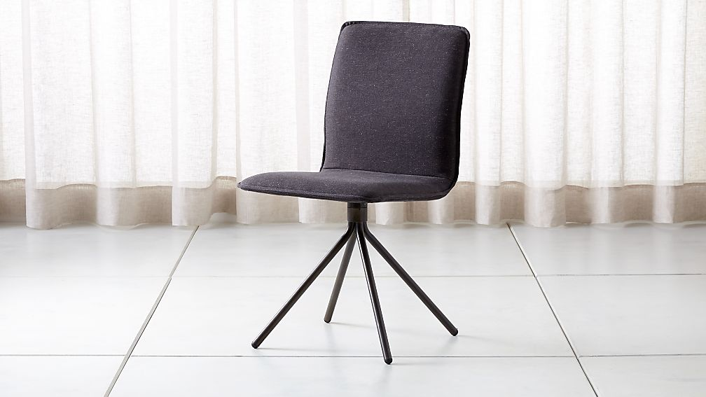 Whirl Anthracite Swivel Dining Chair - Image 1 of 6