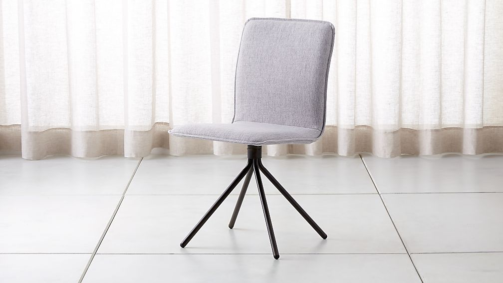 Light Gray Linen Dining Chairs: Whirl Grey Swivel Dining Chair + Reviews