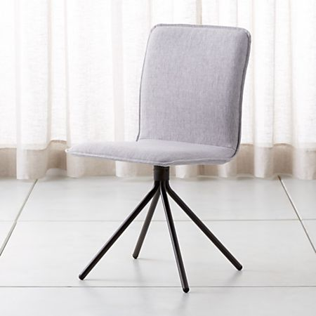 Pleasant Whirl Grey Swivel Dining Chair Ncnpc Chair Design For Home Ncnpcorg