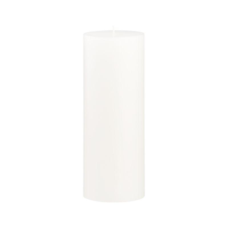 Stock up on the classic white pillar candle, in a variety of sizes.<br /><br /><NEWTAG/><ul><li>Paraffin wax</li><li>Cotton wick</li><li>Unscented</li><li>Burn time: 115 hours</li><li>Made in India</li></ul>