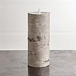 White Birch 3x8 Flameless Pillar Candle