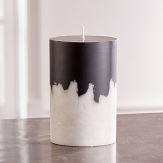 White Black Two-Tone Candle 4x6