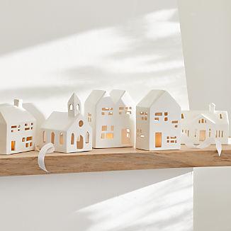 White Ceramic Houses
