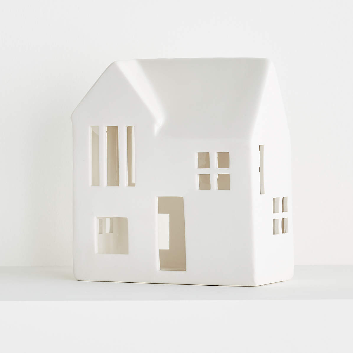 White Ceramic Houses Crate And Barrel