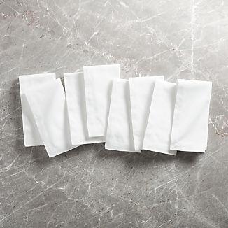 White Dinner Napkins, Set of 8