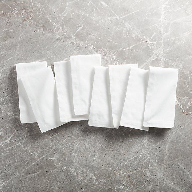 White Dinner Napkins, Set of 8 - Image 1 of 2