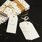 White Gift Tags, Set of 6