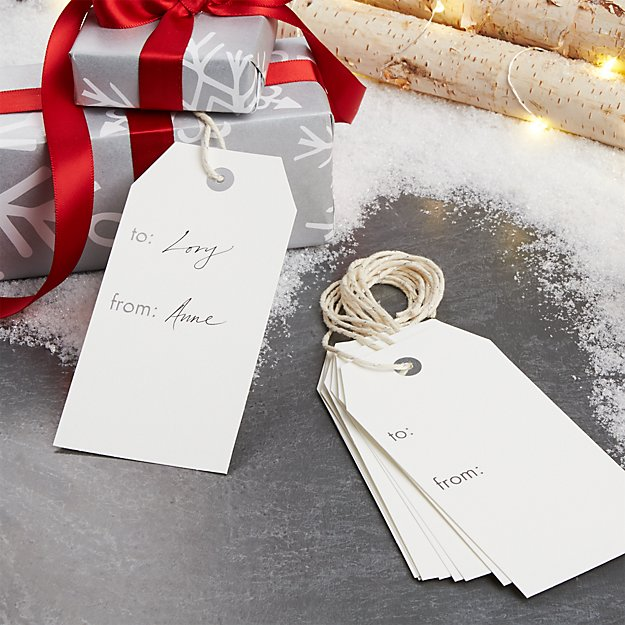 White Gift Tags, Set of 10
