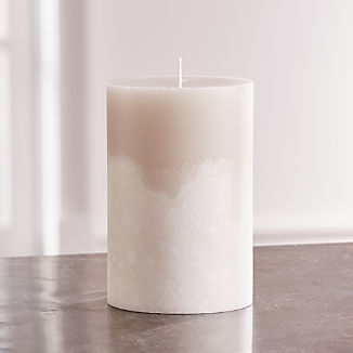 White Grey Two-Tone Candle 4x6