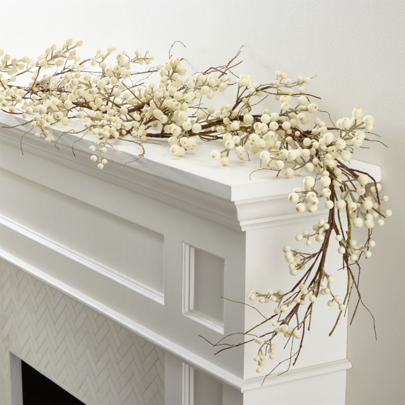 White Ilex Berry Garland Reviews Crate And Barrel