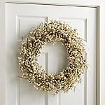 White Ilex Berry Wreath