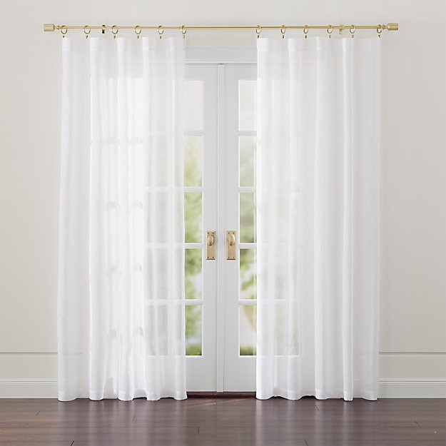 Linen Sheer White Curtains - Image 1 of 11