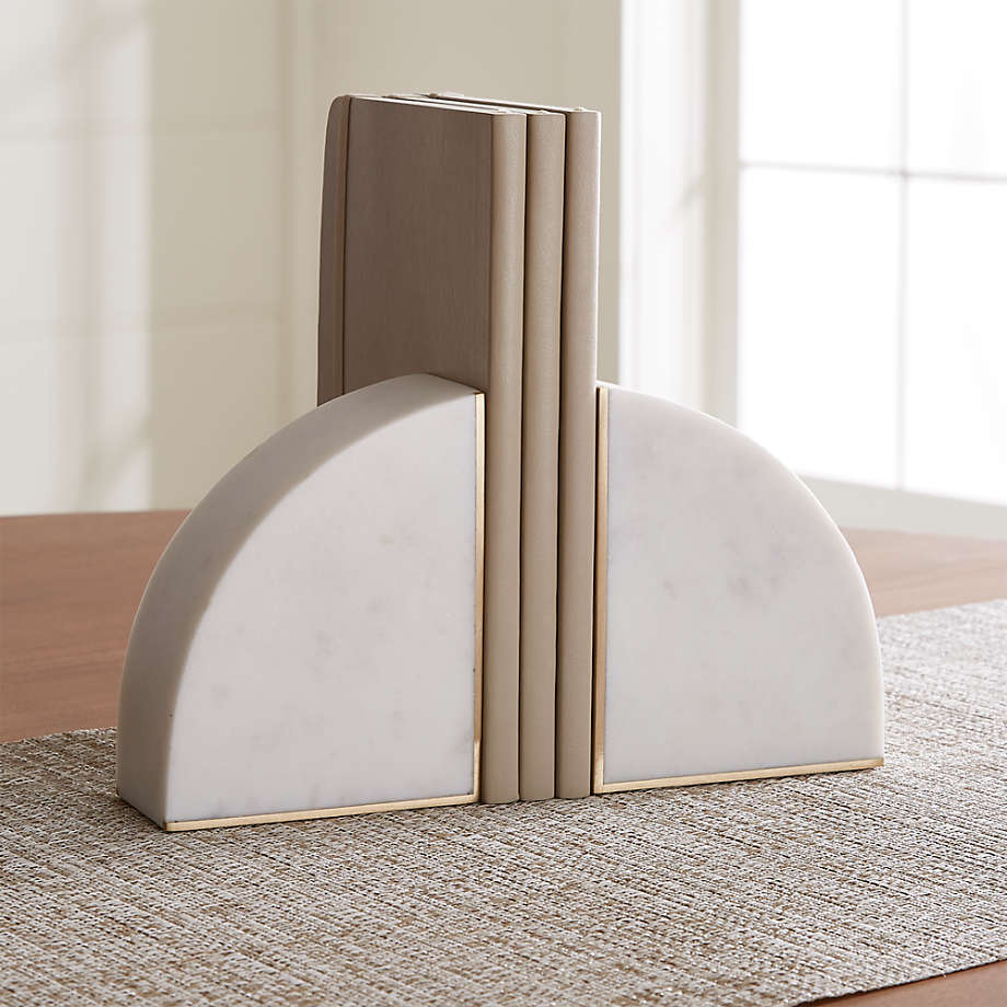 White Marble Bookends Set Of 2 Reviews Crate And Barrel Canada