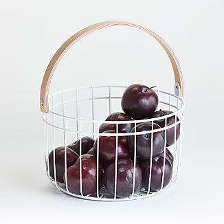 White Metal Fruit Basket