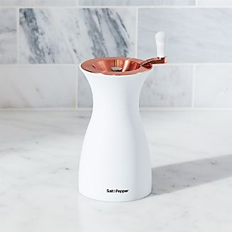 White & Rose Gold Salt Grinder