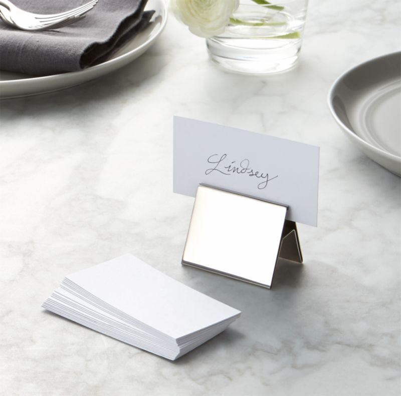 White Place Cards Set Of 20 Reviews Crate And Barrel