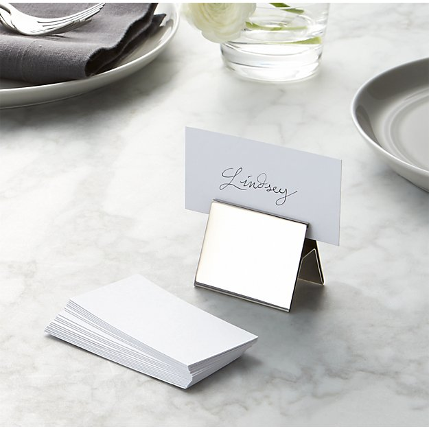 White place cards set of 20 reviews crate and barrel for Place settings name card holders
