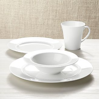 white pearl 4piece place setting - White Dinnerware Sets