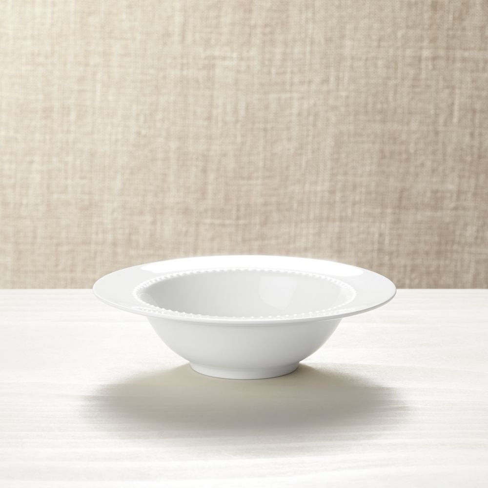 White Pearl Bowl - Crate and Barrel