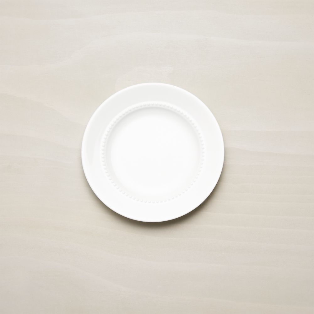 White Pearl Bread and Butter Plate - Crate and Barrel