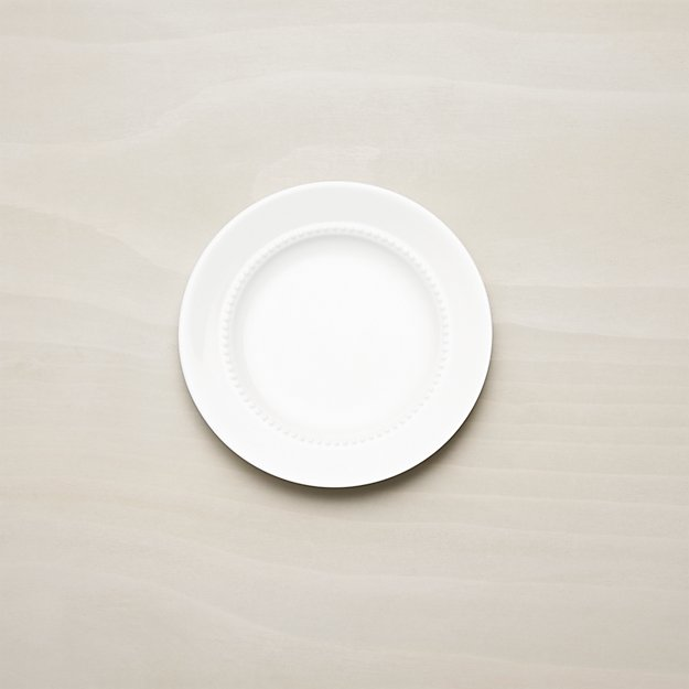 White Pearl Bread And Butter Plate Crate Barrel