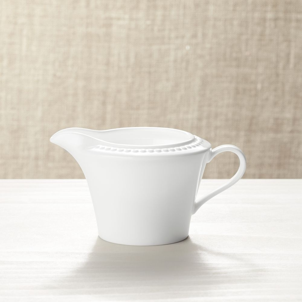 White Pearl Creamer - Crate and Barrel
