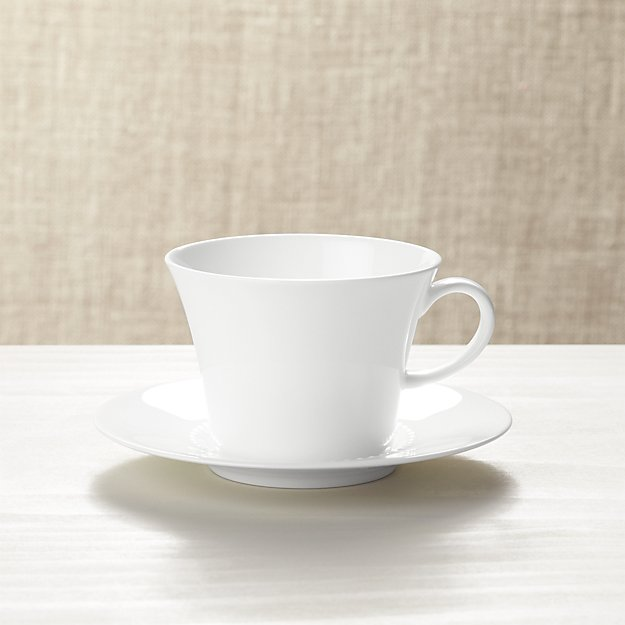 White Pearl Cup and Saucer
