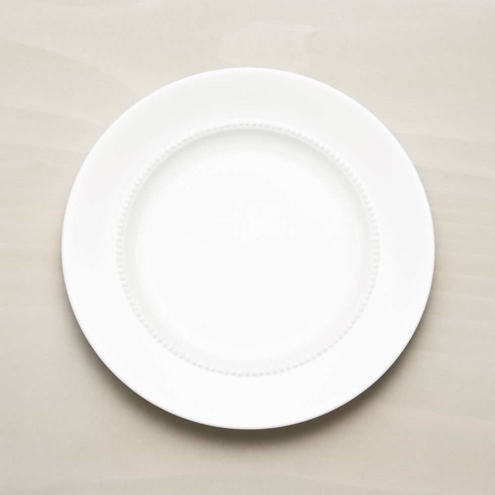 White Pearl Dinner Plate - Crate and Barrel