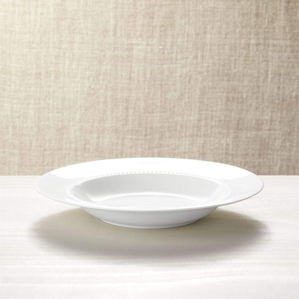 White Pearl Low Bowl - Crate and Barrel