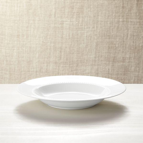 White Pearl Low Bowl