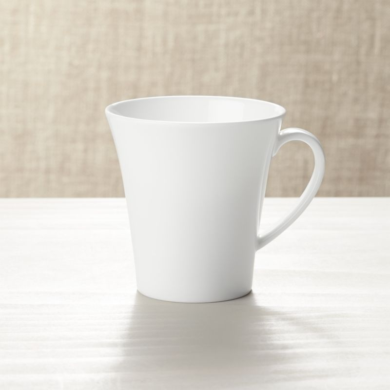 Embossed Mug In Bone China Reviews Crate And Barrel
