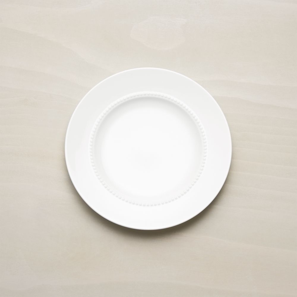White Pearl Salad Plate - Crate and Barrel