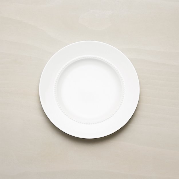 White Pearl Salad Plate