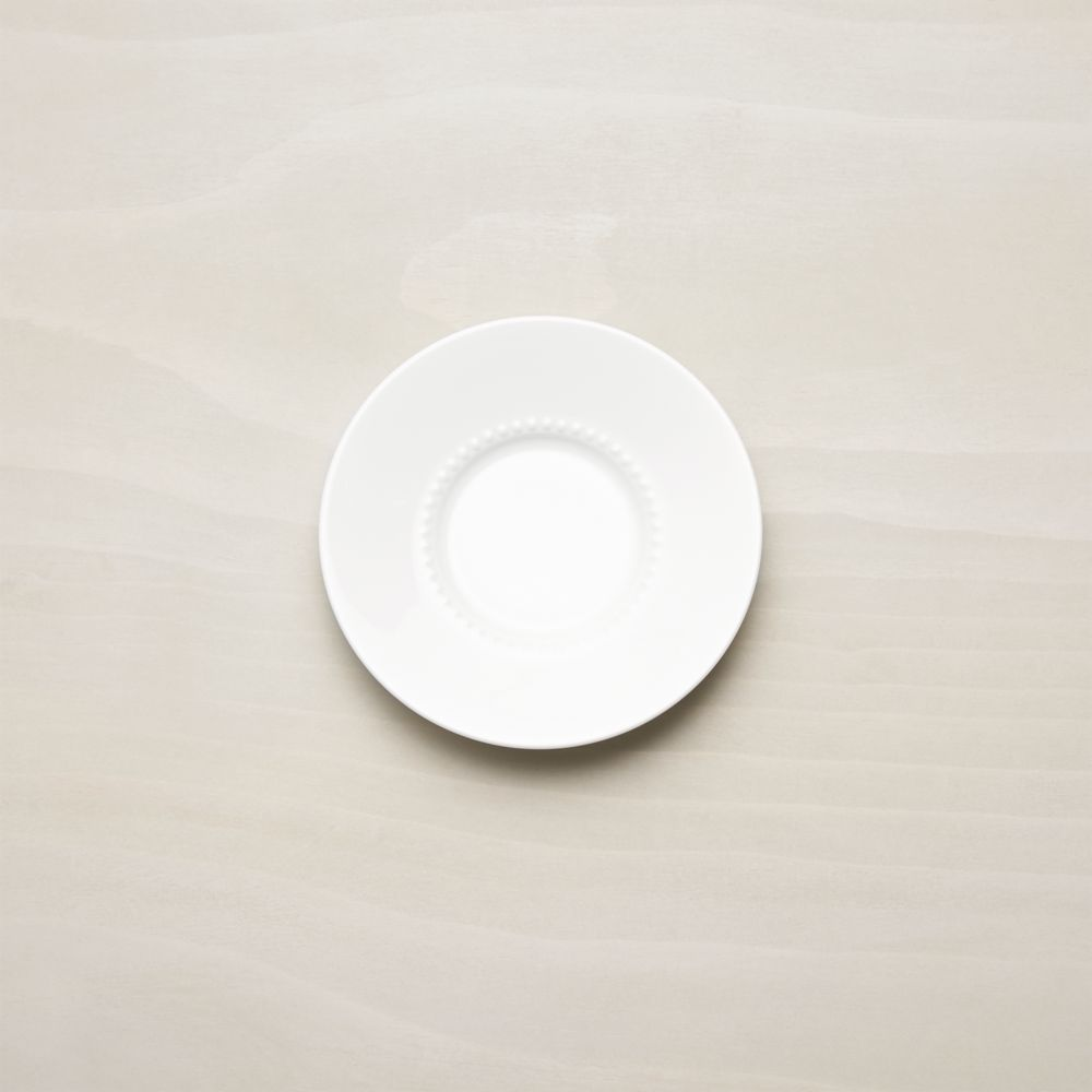 White Pearl Saucer - Crate and Barrel