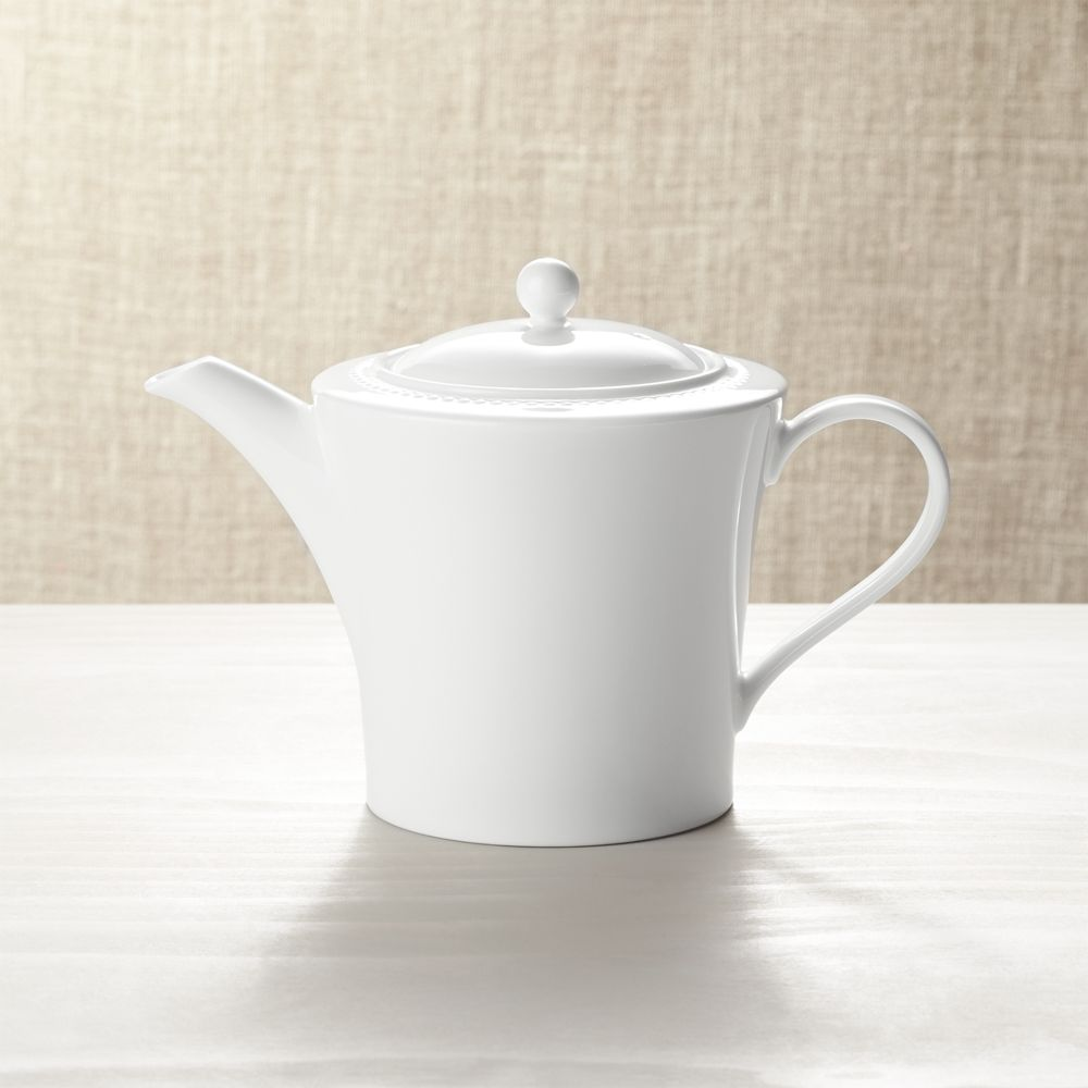 White Pearl Teapot - Crate and Barrel
