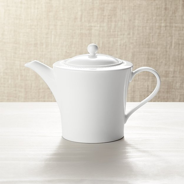 White Pearl Teapot - Image 1 of 3