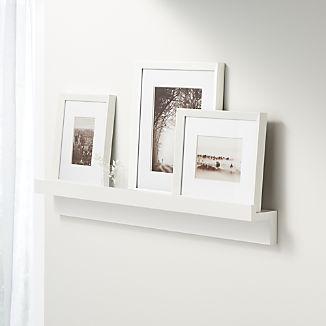 White Photo Ledge & Frame Set