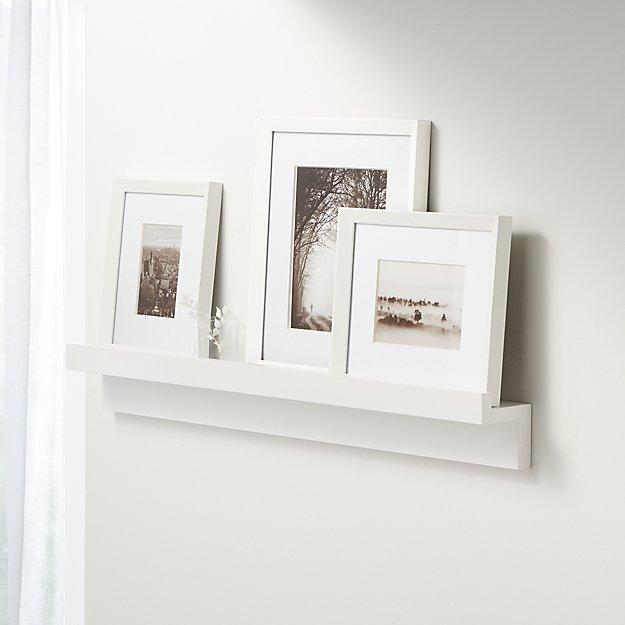 White Photo Ledge & Frame Set - Image 1 of 2