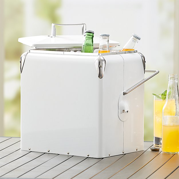 White Picnic Cooler - Image 1 of 4