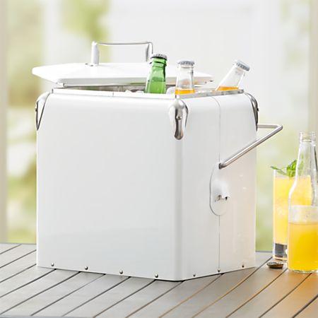 White Picnic Cooler